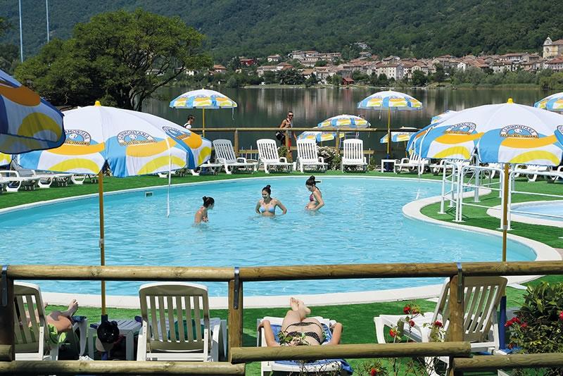 Lake and pool near Vittorio Veneto