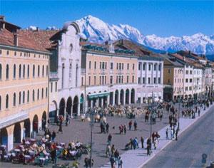 Belluno in Dolomites, close to Venice and Vittorio Veneto