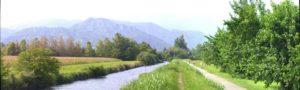 cycling path along the river Meschio