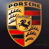 pransing horse, Porsche